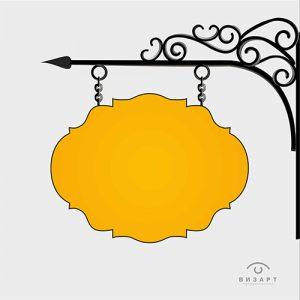 Световой короб с использованием элементов ковки в качестве декора