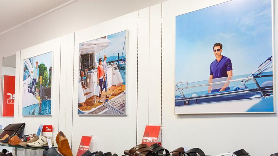 Оформление витрин и интерьера магазина с использованием ткани