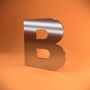 Объемные буквы из нержавеющей стали со световой лицевой поверхностью