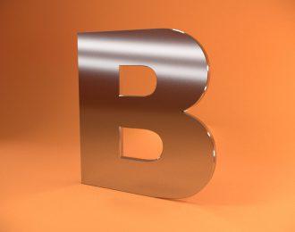 Плоские буквы из нержавеющей стали