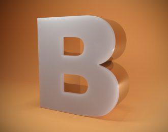 Световые объёмные буквы из нержавеющей стали со светорассеивающим цветным акрилом