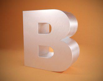 Объёмные буквы из алюминиевого композита