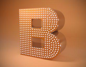 Объёмные буквы из нержавеющей стали с открытой светодиодной подсветкой