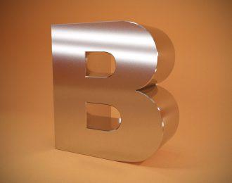 Объемные буквы из нержавеющей стали с контуражной подсветкой