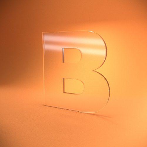 Плоские буквы из акрилового стекла