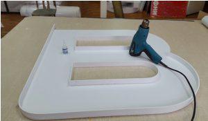 Как сделать объёмные световые буквы своими руками - сборка основы
