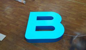 Как сделать объёмные световые буквы своими руками - результат