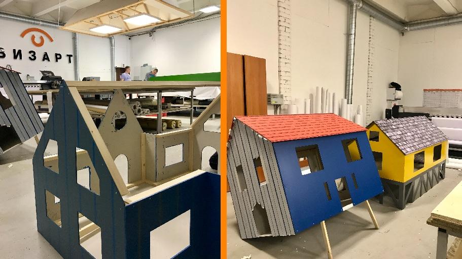 Создание домиков для кроликов (Лотос Plaza)